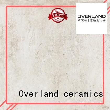 Overland ceramics glazed white cement tile directly price for hotel