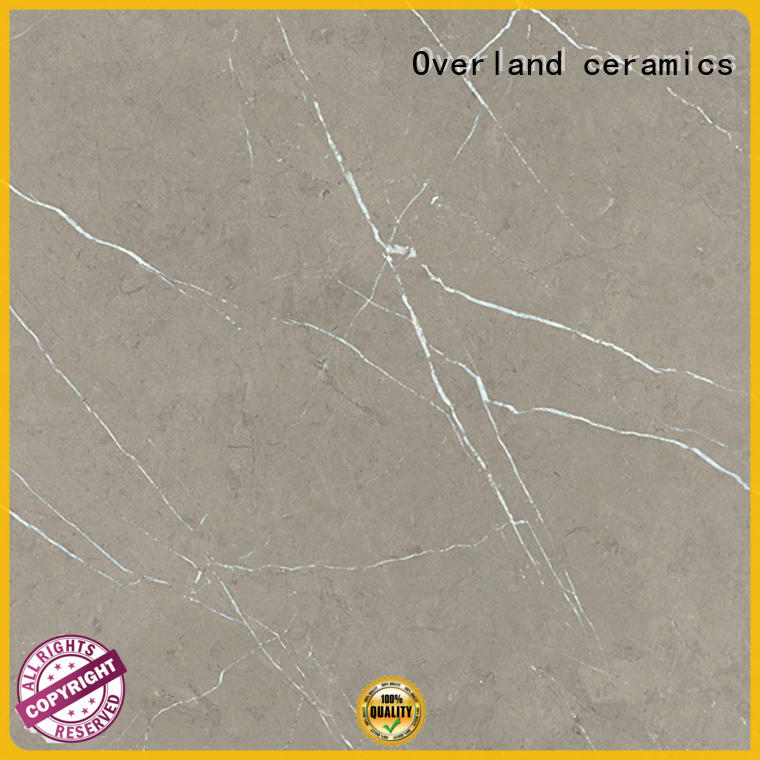 Overland ceramics brick black marble floor tile directly price for bathroom