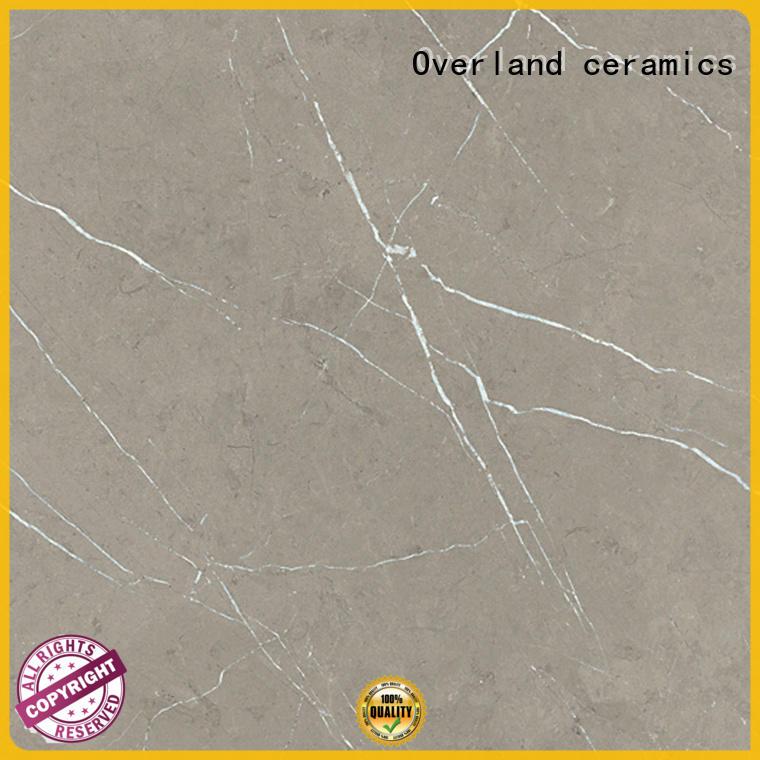 Overland ceramics brick black marble floor tile directly price for bathroom