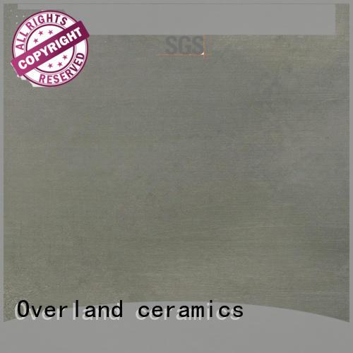 Overland ceramics outdoor floor plain cement tiles wholesale for apartment