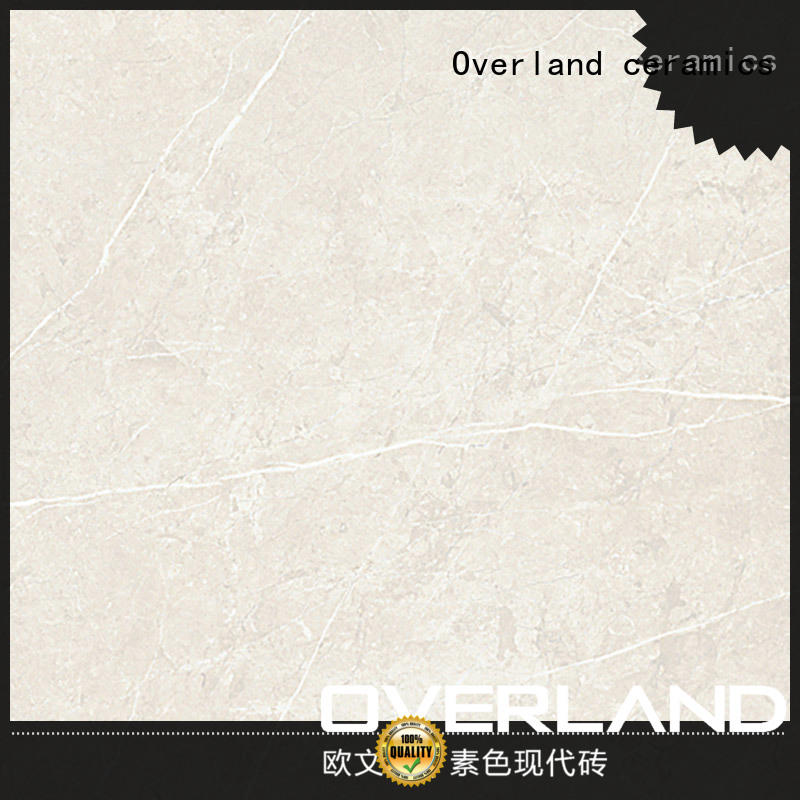 Overland ceramics brick marble look floor tile from China for bathroom