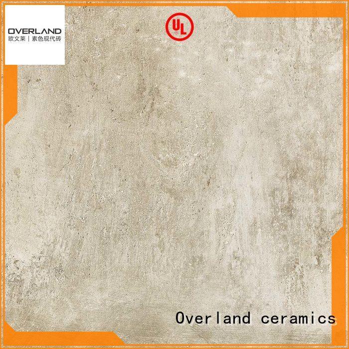 Overland ceramics black encaustic cement tile design for garden