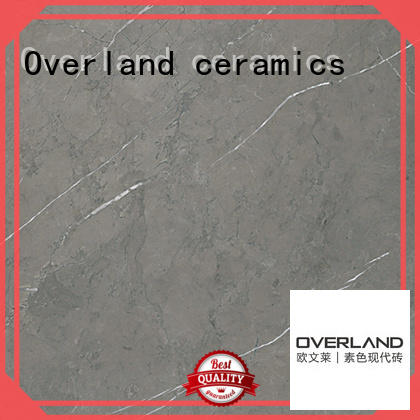 Overland ceramics patterned floor grey marble tile floor from China for bedroom