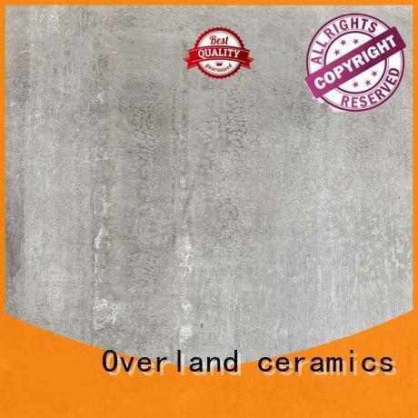 Overland ceramics patterned floor modern cement tile design for apartment