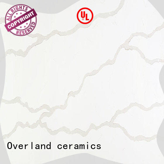 Overland ceramics sparkle white granite worktop factory price for livingroom