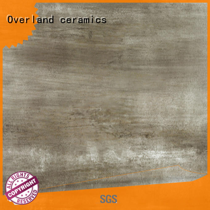 Overland ceramics illusion wood effect ceramic floor tiles from China for bathroom
