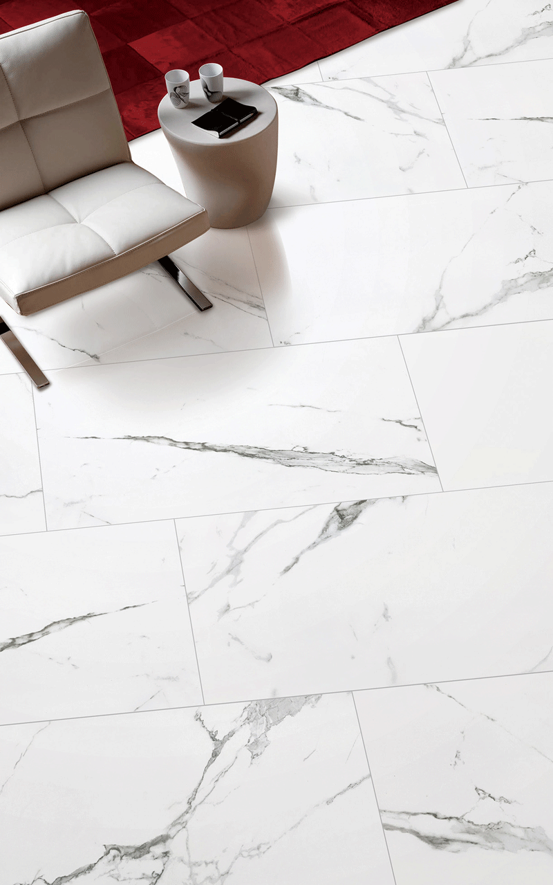 durable white stone tile statuario factory price for office-4