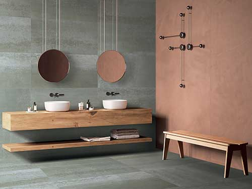 cusotm bathroom tile patterns price for Villa-4