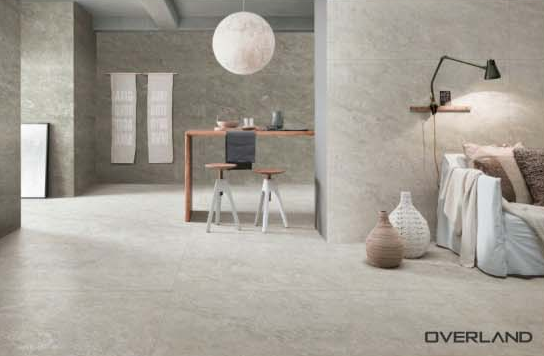 Overland ceramics grey tile flooring supplier for hotel-1