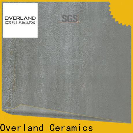Overland ceramics black bathroom floor tiles design for garden