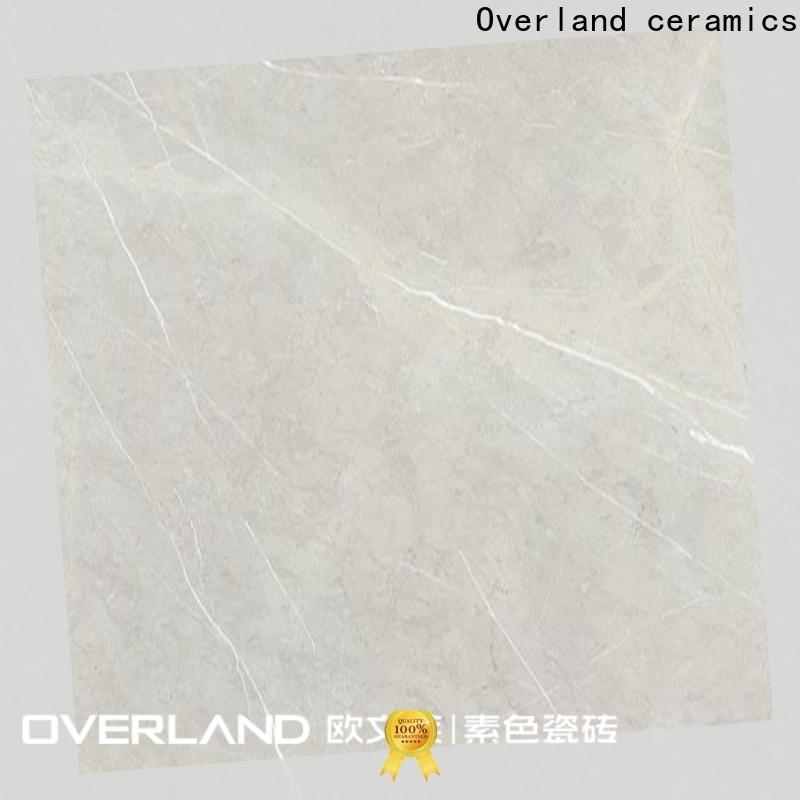 Overland ceramics decorative white marble floor tiles price for Villa