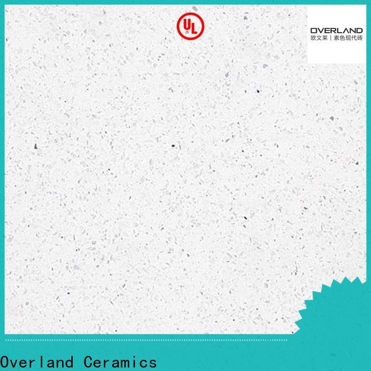 Overland ceramics black quartz worktop factory for kitchen
