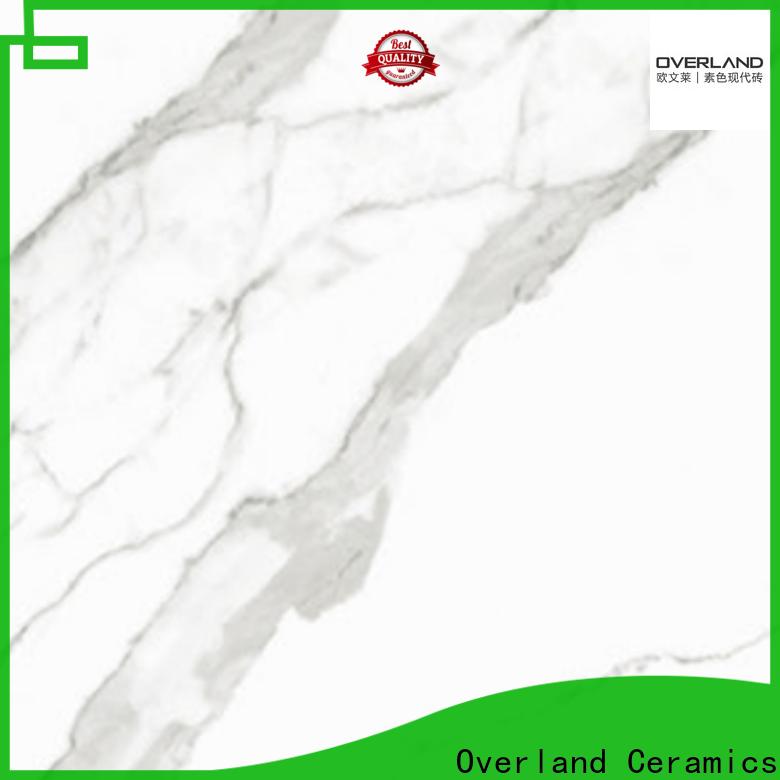 Overland ceramics best calacatta white tile factory for apartment