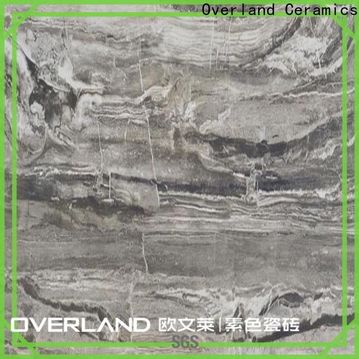 Overland ceramics natural white marble flooring design for apartment