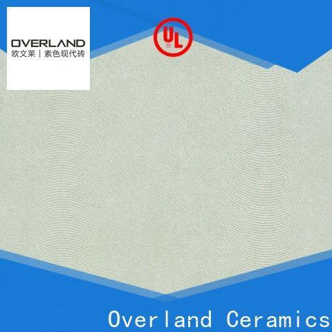 Overland ceramics cusotm curved tiles for corners design for bathroom
