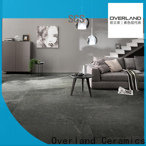 Overland ceramics grey marble tile floor supplier for bathroom