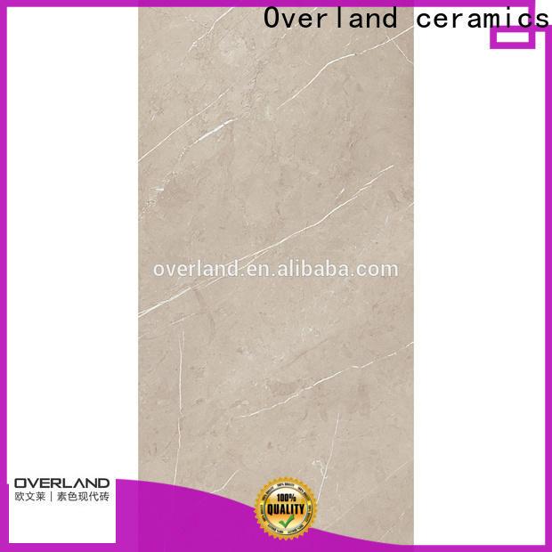 Overland ceramics marble ceramic tile design for hotel
