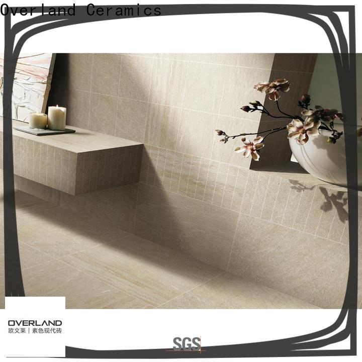 Overland ceramics black marble tile bathroom for sale for apartment