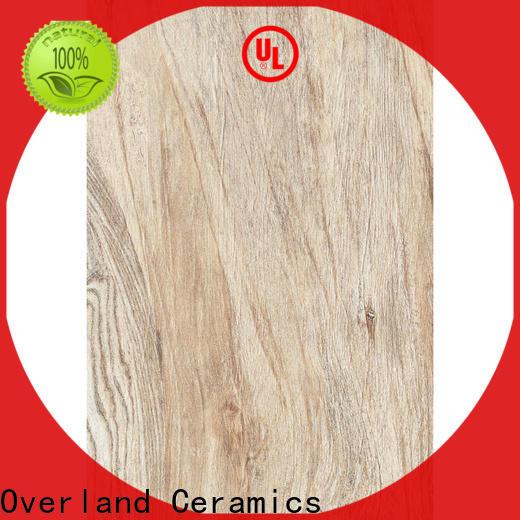 Overland ceramics high quality ceramic wood tile factory for home