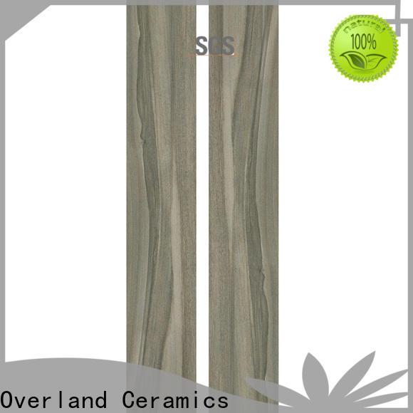 Overland ceramics high quality wood grain porcelain tile factory for bathroom