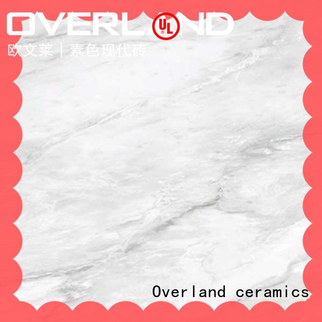Overland ceramics qip6571 white marble wall tiles design for livingroom
