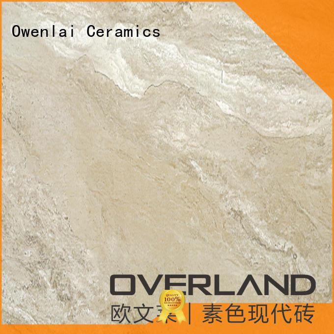 Overland style marble tile backsplash design for outdoor