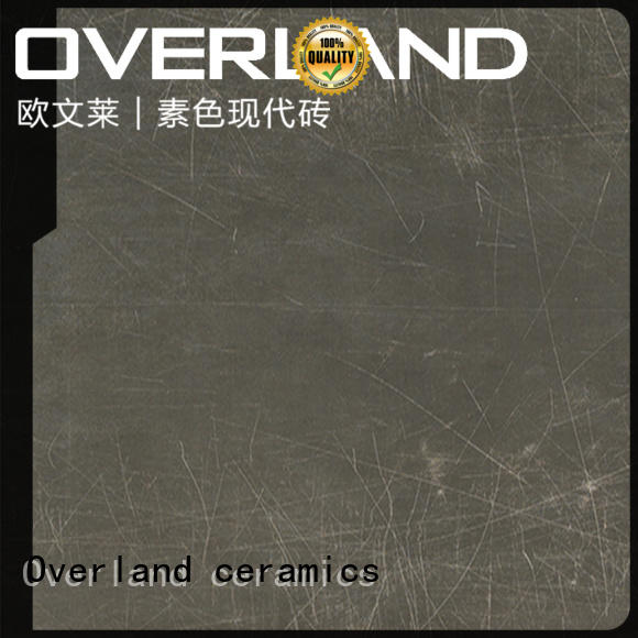Overland ceramics patterned floor gray and white cement tile wholesale for apartment