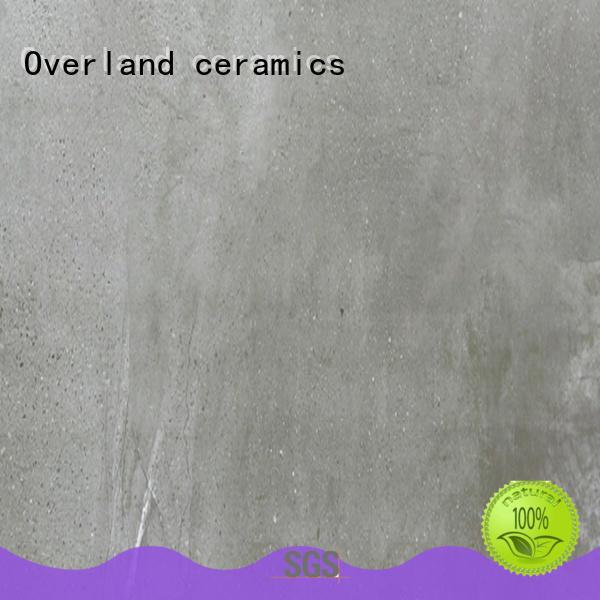 Overland ceramics durable white stone tile factory price for garage floor