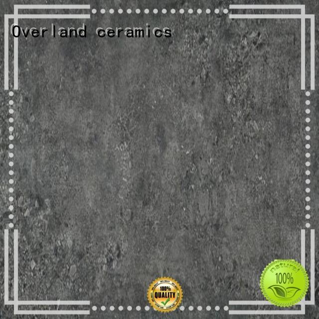 Overland ceramics series gray and white cement tile design for hotel