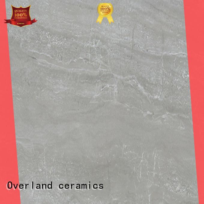Overland ceramics mosaic marble look floor tile design for kitchen