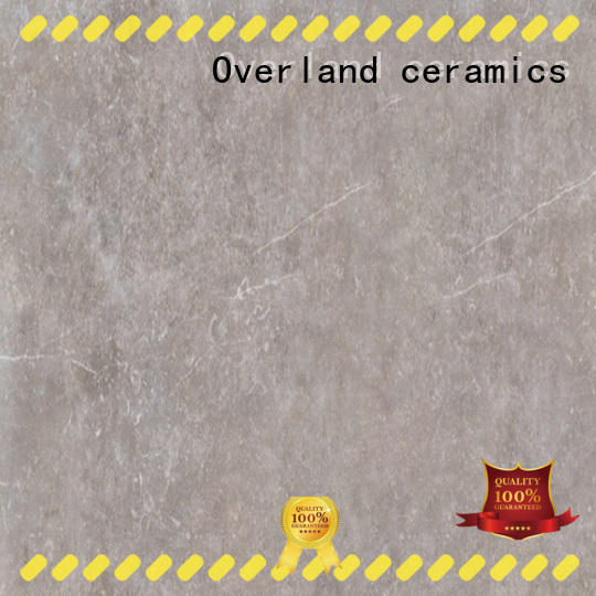 Overland ceramics durable white stone tile factory price for kitchen