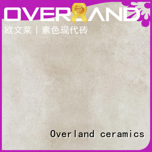 Overland ceramics strong cement look porcelain tile wholesale for hotel