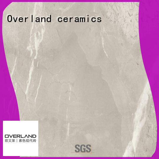 Overland ceramics natural marble look tiles for sale for hotel