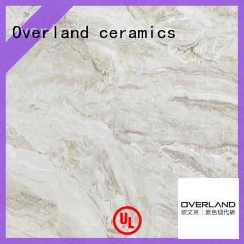 Overland ceramics antislipery grey marble tile floor on sale for bedroom