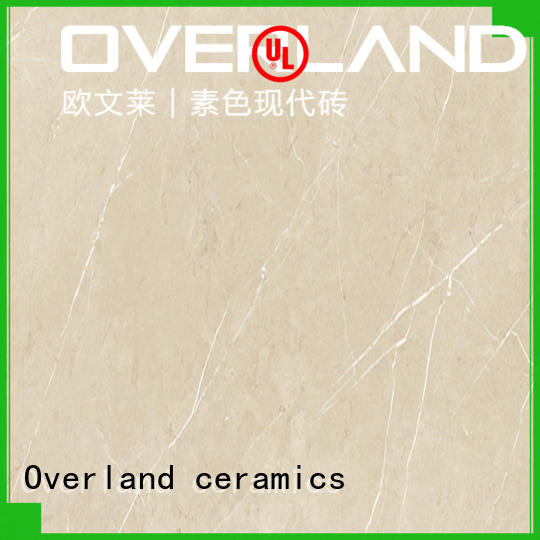 Overland ceramics patterned floor brown marble tile from China for livingroom