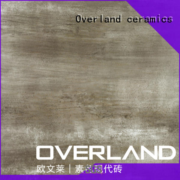 Overland ceramics good quality wood look tile bathroom from China for living room