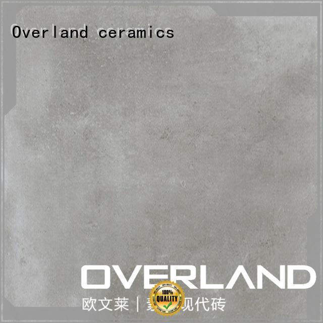 Overland ceramics cusotm patterned bathroom floor tiles supplier for apartment