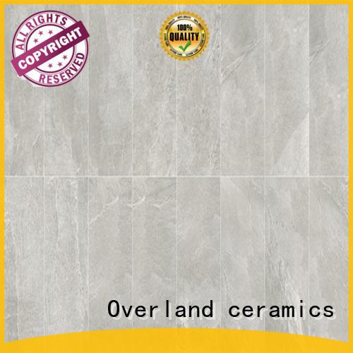 Overland ceramics marble like tile promotion for garden