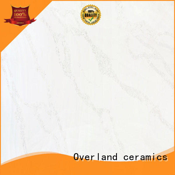 Overland ceramics grey quartz worktop factory price for kitchen