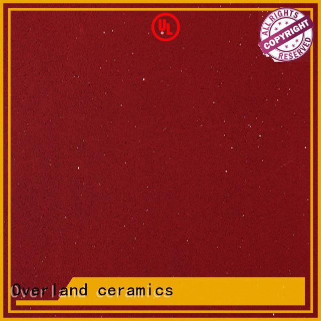 Overland ceramics quartz stone countertop factory price for outdoor